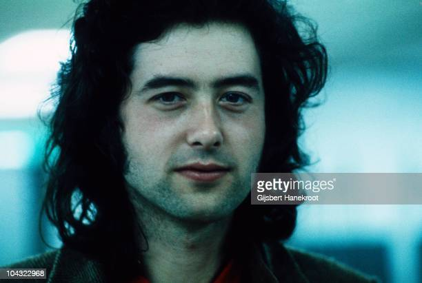 Jimmy Page of Led Zeppelin poses backstage at Oude Rai on 27th May 1972 in Amsterdam Netherlands