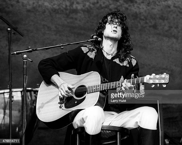 Jimmy Page performing with 'Led Zeppelin' at the Oakland Coliseum in Oakland California on July 24 1977