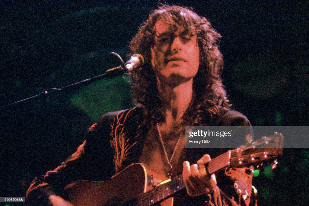 Led zeppelins jimmy page live pictures getty images jimmy page plays guitar on stage with led zeppelin led zeppelin was one of the voltagebd Choice Image