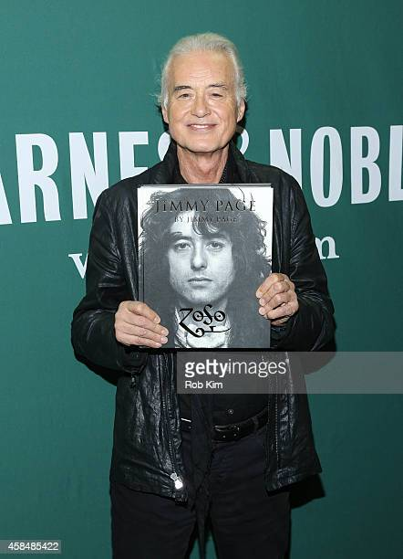 Jimmy Page promotes his new book 'Jimmy Page By Jimmy Page' at Barnes Noble Union Square on November 5 2014 in New York City