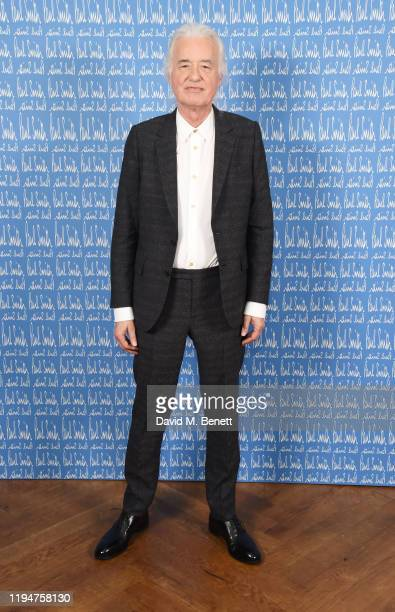 Jimmy Page wearing Paul Smith attends the Paul Smith AW20 50th Anniversary show as part of Paris Fashion Week on January 19 2020 in Paris France