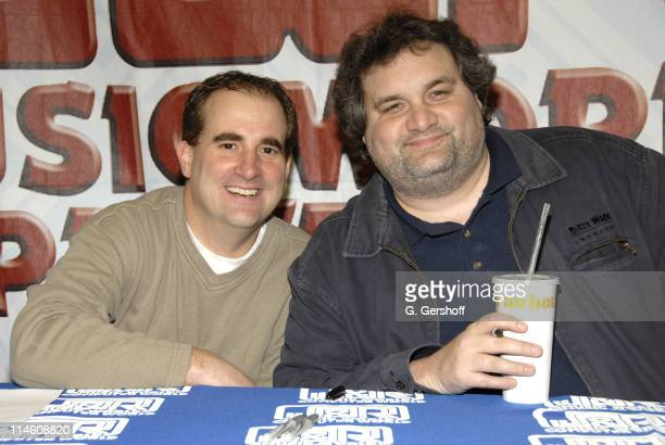 Jimmy Palumbo and Artie Lange during Artie Lange Celebrates the Release of Beer League DVD with Autograph Signing at JR Music January 9 2007 at J R...