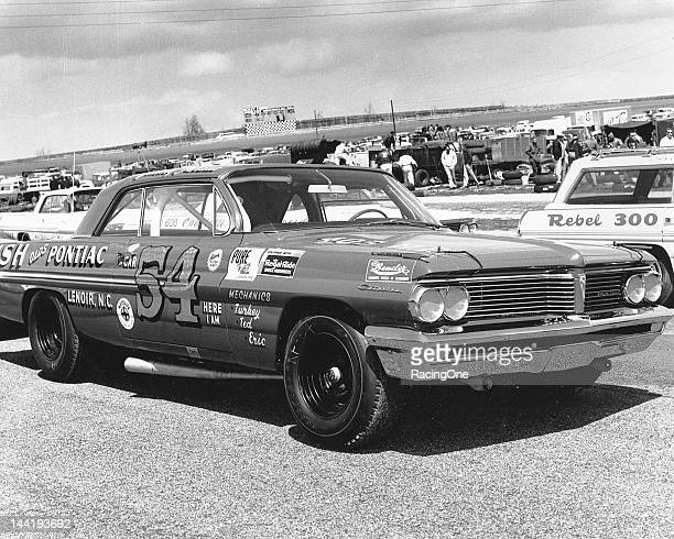 Jimmy Pardue's Pontiac sits on pit road at his hometown track North Wilkesboro Speedway before a NASCAR Cup race