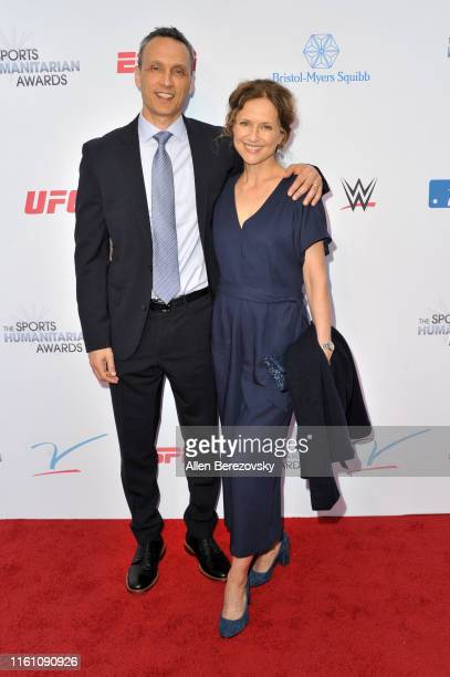 Jimmy Pitaro and Jean Louisa Kelly attend the 5th annual Sports Humanitarian Awards presented by ESPN at The Novo Theater at LA Live on July 09 2019...