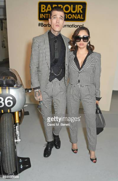Jimmy Q and Jet Luna attend the Barbour International presentation during the London Fashion Week Men's June 2017 collections on June 9 2017 in...