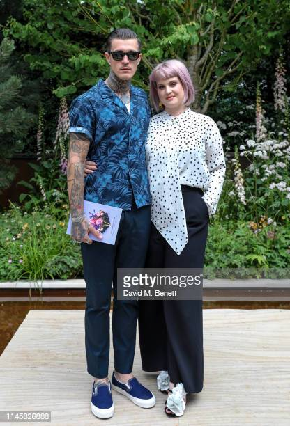 Jimmy Q and Kelly Osbourne visit the Wedgewood Garden & Tea Conservatory at the Chelsea Flower Show 2019 on May 24, 2019 in London, England.