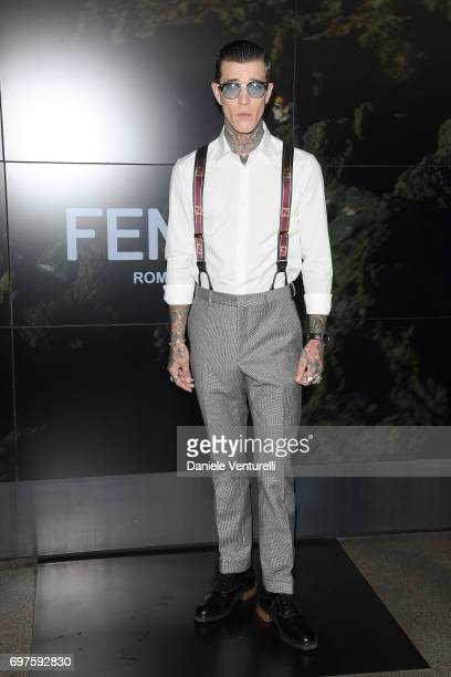 Jimmy Q attends the Fendi show during Milan Men's Fashion Week Spring/Summer 2018 on June 19 2017 in Milan Italy