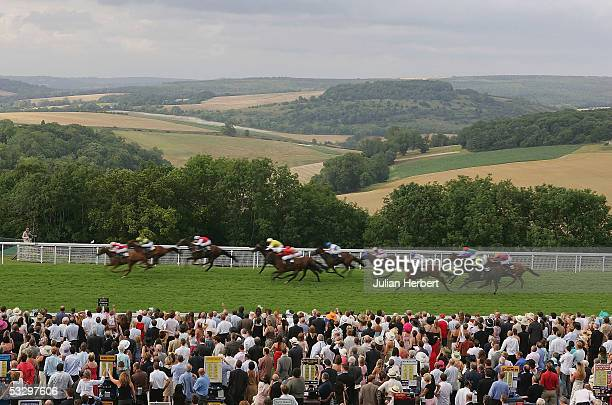 Jimmy Quinn and Tagula Sunrise land The De Boer Stakes Race run at Goodwood Racecourse on July 28, 2005 in Goodwood, England.