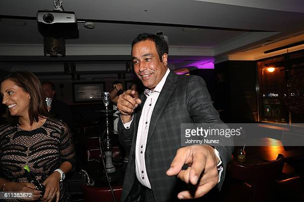 Jimmy Rodriguez and his wife attend Jimmy Rodriguez Birthday Celebration Launch Of Jimmy's Restaurant Hosted By Fat Joe on September 28 2016 in New...