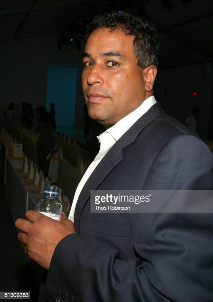 Jimmy Rodriguez attends the Peter Som show during Olympus Fashion Week Spring 2005 at the Bryant tent in Bryant Park September 14, 2004 in New York...