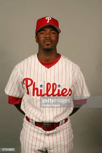 Jimmy Rollins of the Philadelphia Phillies during photo day at Bright House Networks Field on February 23 2006 in Clearwater Florida