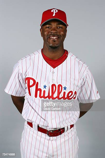 Jimmy Rollins of the Philadelphia Phillies poses during photo day at Bright House Networks Field on February 24 2007 in Clearwater Florida