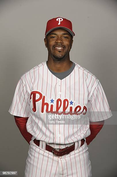 Jimmy Rollins of the Philadelphia Phillies poses during Photo Day on Wednesday February 24 at Bright House Networks Field in Clearwater Florida