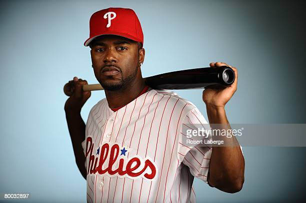 Jimmy Rollins of the Philadelphia Phillies poses for a portrait during the spring training photo day on February 21 2008 at Bright House Field in...