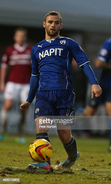 Jimmy Ryan of Chesterfield in action during the Sky Bet League Two match between Northampton Town and Chesterfield at Sixfields Stadium on January 25...