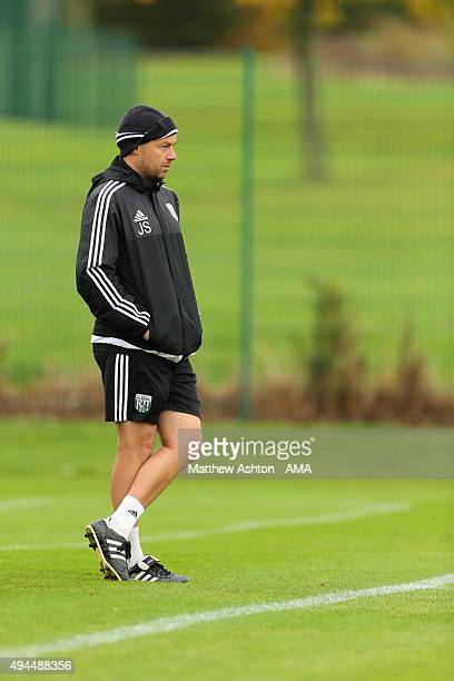 Jimmy Shan West Bromwich Albion U21 Head Coach during the U18 Premier League match between West Bromwich Albion and Everton on October 24 2015 in...