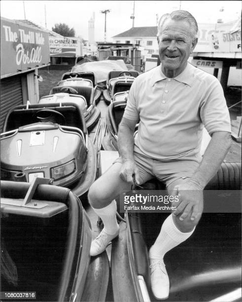 Jimmy Sharman pictured at the Sydney Showground with his Italian Scooter Cars. April 07, 1981. .