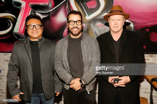 """Jimmy Shin, Jeremy Piven and Darrell Hammond attend """"Shindig"""" standup comedy show benefitting Color Of Change hosted by Jimmy Shin at Black Star..."""