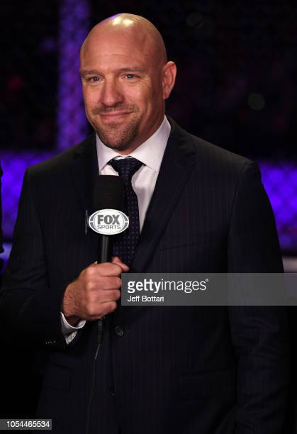 Jimmy Smith commentates during the UFC Fight Night event inside Avenir Centre on October 27, 2018 in Moncton, New Brunswick, Canada.