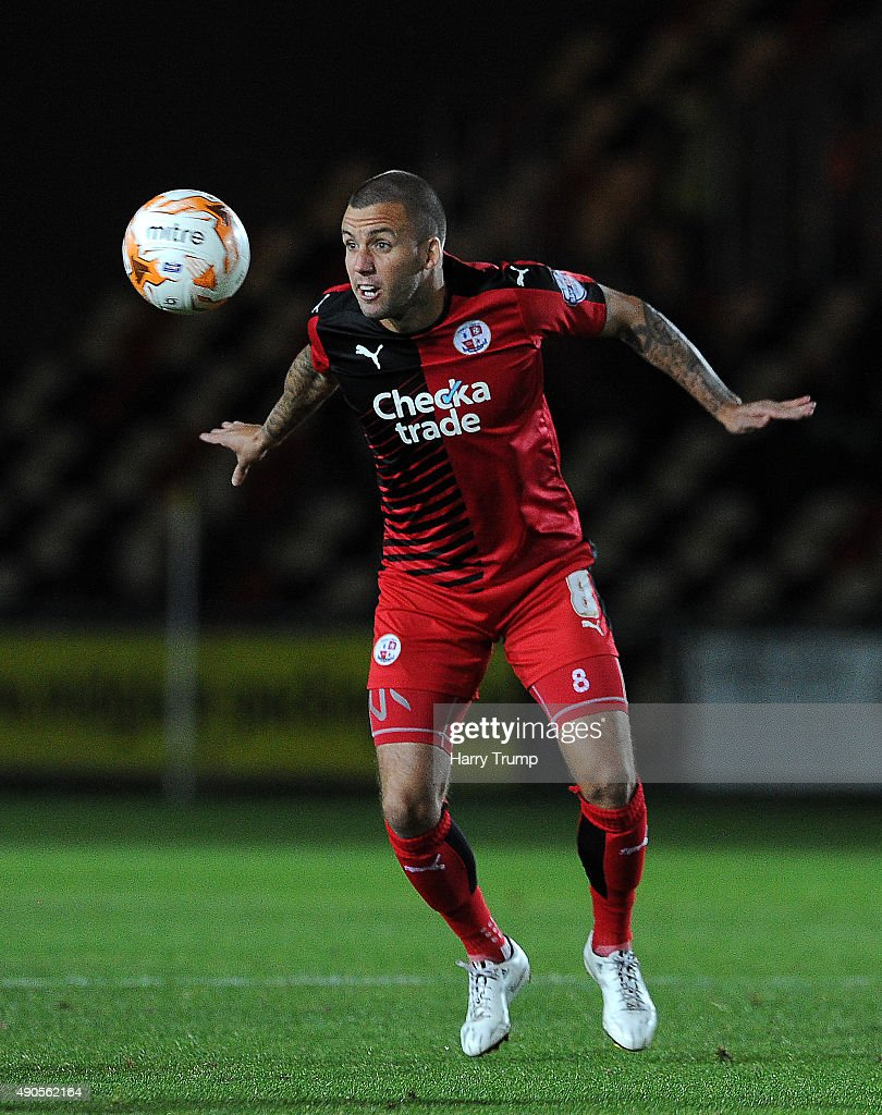 Jimmy Smith of Crawley Town in action during the Sky Bet League Two match between Newport County and Crawley Town at Rodney Parade on September 29, 2015 in Newport, Wales.