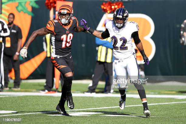 Jimmy Smith of the Baltimore Ravens in action during the game against the Cincinnati Bengals at Paul Brown Stadium on November 10, 2019 in...
