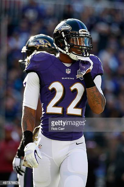 Jimmy Smith of the Baltimore Ravens looks on against the Jacksonville Jaguars at M&T Bank Stadium on November 15, 2015 in Baltimore, Maryland.