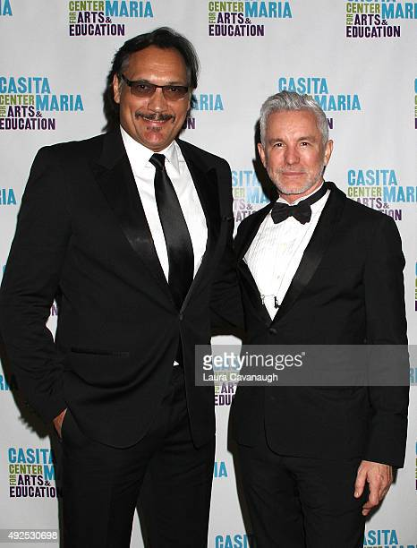 Jimmy Smits and Baz Luhrmann attend the Casita Maria Fiesta 2015 at The Plaza Hotel on October 13 2015 in New York City