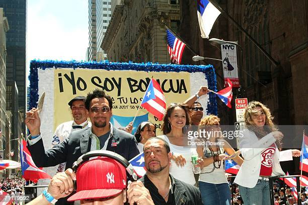 Jimmy Smits and Rosie Perez are seen during the Puerto Rican Day Parade June 11 2006 in New York City The Puerto Rican Day Parade in New York City...