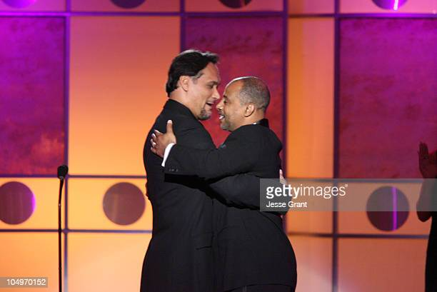 Jimmy Smits and Ruben Santiago Hudson during 12th Annual NAMIC Vision Awards Show at The Regent Beverly Wilshire in Los Angeles California United...