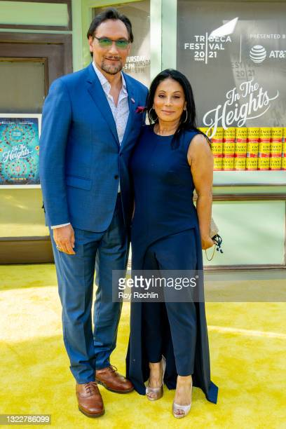 """Jimmy Smits and Wanda De Jesus attend """"In The Heights"""" 2021 Tribeca Festival opening night premiere at United Palace Theater on June 09, 2021 in New..."""