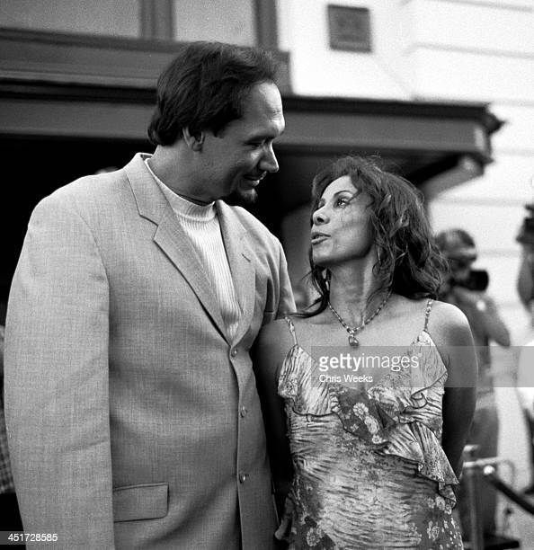 Jimmy Smits and Wanda De Jesus during Blood Work Premiere Arrivals Black and White Photography by Chris Weeks at Warner Brothers Lot in Burbank...