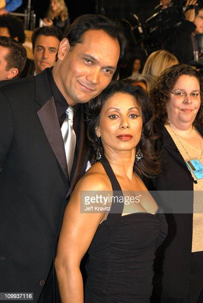 Jimmy Smits and Wanda De Jesus during The 29th Annual People's Choice Awards at Pasadena Civic Auditorium in Pasadena CA United States