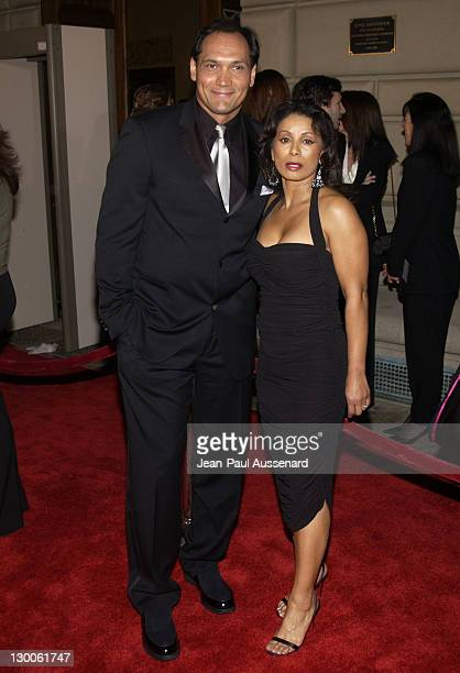 Jimmy Smits and Wanda De Jesus during The 29th Annual People's Choice Awards Arrivals at Pasadena Civic Auditorium in Pasadena California United...
