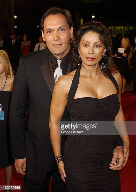 Jimmy Smits and Wanda De Jesus during The 29th Annual People's Choice Awards Arrivals by Gregg DeGuire at Pasadena Civic Auditorium in Pasadena...