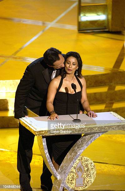 Jimmy Smits and Wanda De Jesus present the award for Favorite Dramatic Motion Picture at the 29th Annual People's Choice Awards