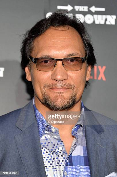 Jimmy Smits attends The Get Down New York premiere at Lehman Center For The Performing Arts on August 11 2016 in the Bronx borough of New York City