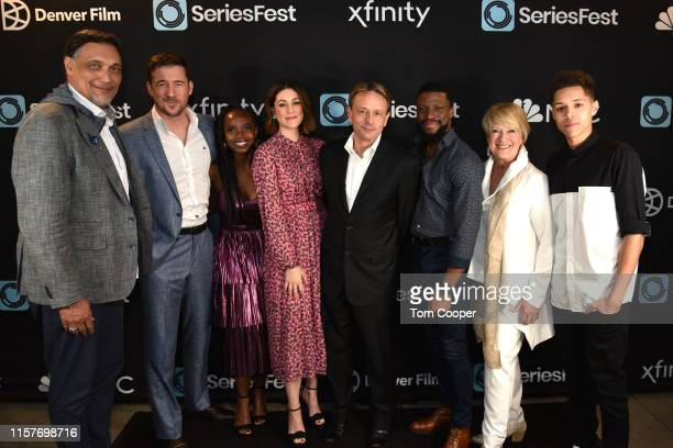 Jimmy Smits Barry Sloane MaameYaa Boafo Caitlin McGee Dean Georgaris Michael Luwoye Jayne Atkinson and Stony Blyden of NBC's Bluff City Law at...