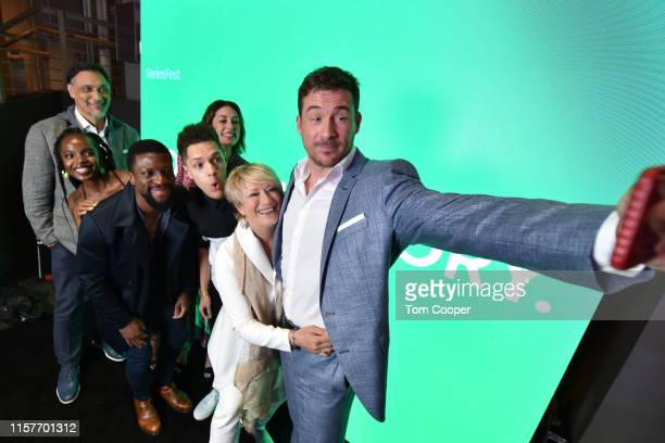 Jimmy Smits MaameYaa Boafo Michael Luwoye Caitlin McGee Stony Blyden Jayne Atkinson and Barry Sloane of NBC's Bluff City Law at Seriesfest Season 5...