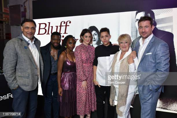 Jimmy Smits Michael Luwoye MaameYaa Boafo Caitlin McGee Stony Blyden Jayne Atkinson and Barry Sloane of NBC's Bluff City Law at Seriesfest Season 5...