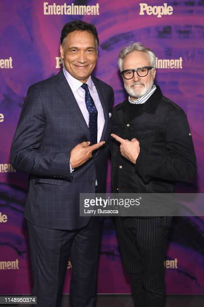 Jimmy Smits of Bluff City Law and Bradley Whitford of Perfect Harmony attend the Entertainment Weekly PEOPLE New York Upfronts Party on May 13 2019...