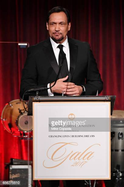 Jimmy Smits speaks onstage at the Maestro Cares Foundation's fourth annual 'Changing Lives/Building Dreams' gala at Cipriani Wall Street on March 21...
