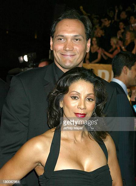 Jimmy Smits Wanda De Jesus during The 29th Annual People's Choice Awards Arrivals at Pasadena Civic Auditorium in Pasadena California United States