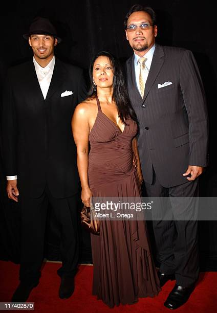 Jimmy Smits with Wanda DeJesus and son Joaquin