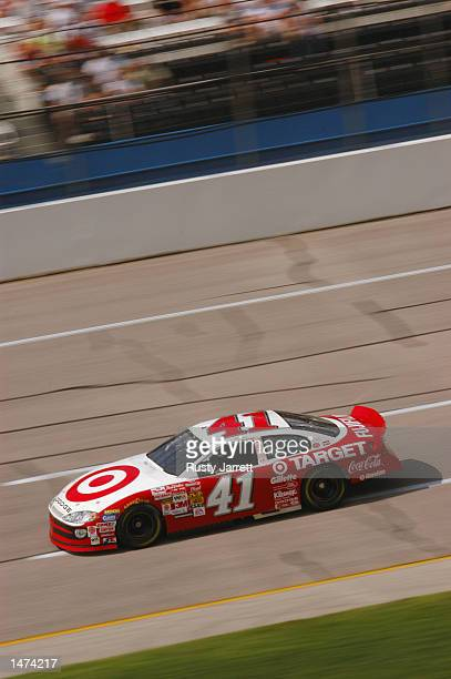Jimmy Spencer driver of the Ganassi Racing Dodge Intrepid R/T in action during practice for the EA Sports 500 at Talladega Superspeedway on October 5...