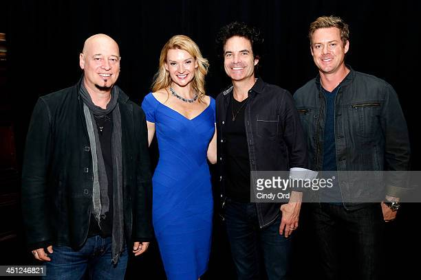 Jimmy Stafford Andrea Powell Pat Monahan and Scott Underwood attend Collaborating For A Cure 16th annual benefit dinner and auction at Park Avenue...