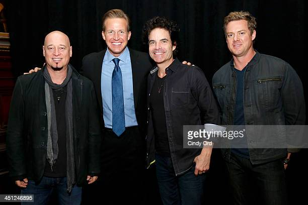 Jimmy Stafford Chris Wragge Pat Monahan and Scott Underwood attend Collaborating For A Cure 16th annual benefit dinner and auction at Park Avenue...