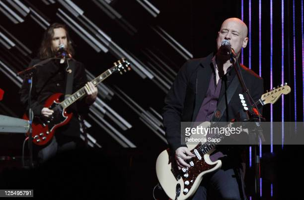 Jimmy Stafford of Train performs at a special benefit concert at Club Nokia at L.A. LIVE on December 1, 2010 in Los Angeles, California.