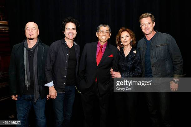 Jimmy Stafford Pat Monahan Tadashi Shoji Marion Waxman and Scott Underwood attend Collaborating For A Cure 16th annual benefit dinner and auction at...