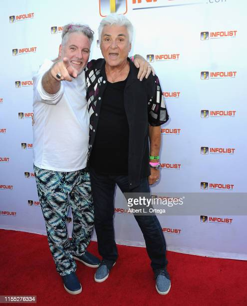 Jimmy Star and Ron Russell attend InfoListcom's PreComicCon Bash held at Wisdome Immersive Art Park on July 11 2019 in Los Angeles California