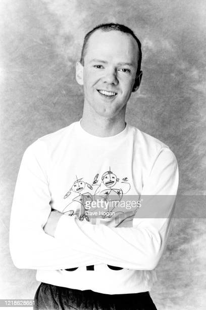 Jimmy Summerville during the recording of the Band Aid 2 charity single 'Do They Know It's Christmas' PWL studios in South London on 03 December 1989